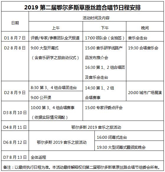 预祝:2019第二届鄂尔多斯草原丝路合唱节圆满成功
