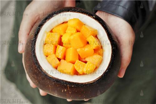 最新潮的网红美食甜品!时光对白椰子碗!