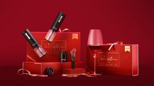 新春送礼有新意,Cheer启尔酒具推出电动开瓶器新春礼盒