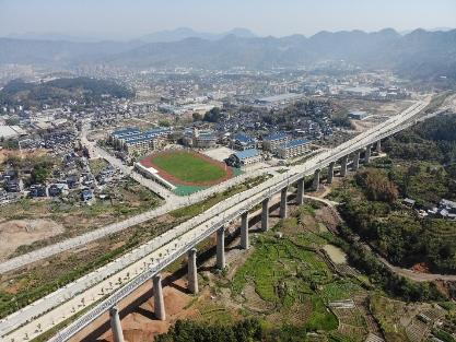 中交一公局西北工程有限公司衢宁铁路项目即将建成通车