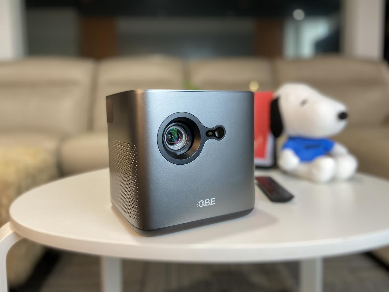 大眼橙NewX7D/M投影仪拆机实测,画面开关灯效果实景图
