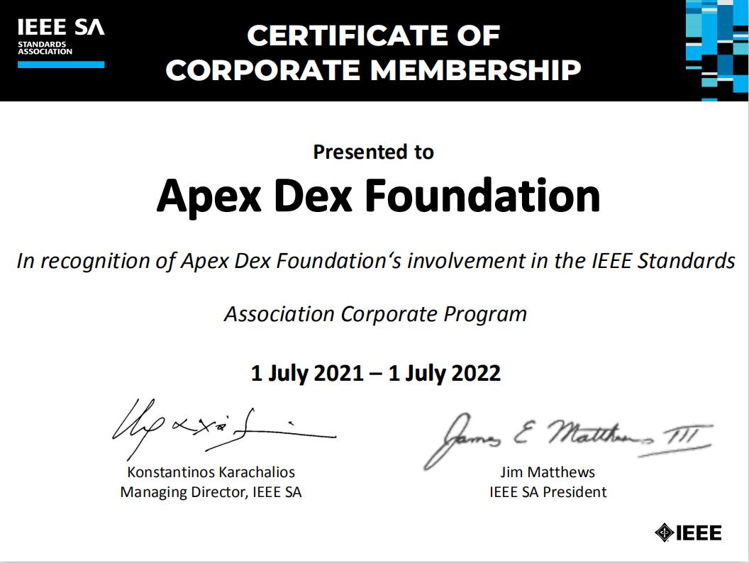 <b>SpaceDEX当选世界最大技术标准组织IEEE成员,为人类利益推动技术进步!</b>